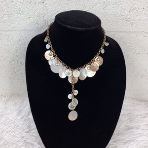 Daisy Fuentes Mother Of Pearl Disc Tassel Necklace
